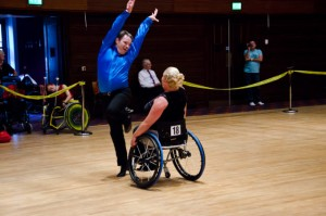 Wheelchair dance in action